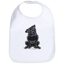 Black Pug Sit Pretty Bib