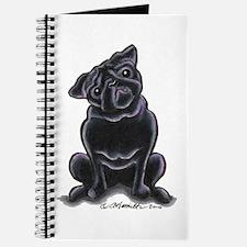 Black Pug Sit Pretty Journal