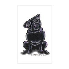 Black Pug Sit Pretty Decal