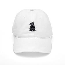 Black Pug Sit Pretty Baseball Cap