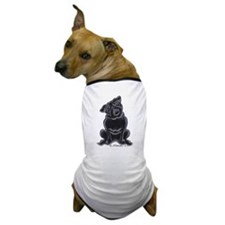 Black Pug Sit Pretty Dog T-Shirt