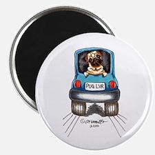 """Pug Lover Car 2.25"""" Magnet (100 pack)"""