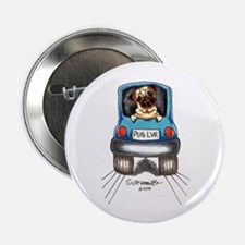 "Pug Lover Car 2.25"" Button"