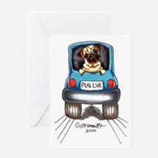 Pug Lover Car Greeting Card