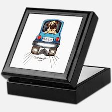 Pug Lover Car Keepsake Box