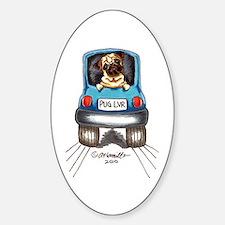 Pug Lover Car Decal
