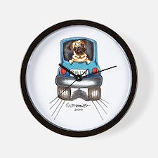 Pug Lover Car Wall Clock