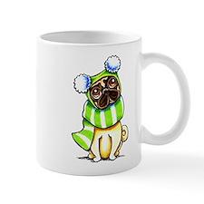 Pug Scarf Hat Mug