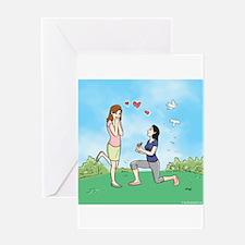 Lesbian Wedding Proposal - Greeting Card