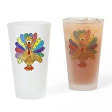 Turkey Polka Dot Drinking Glass