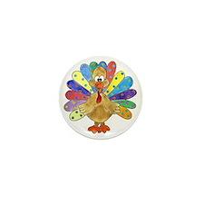 Turkey Polka Dot Mini Button