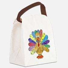 Turkey Polka Dot Canvas Lunch Bag