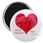 Red Rose in Heart Valentine Magnet