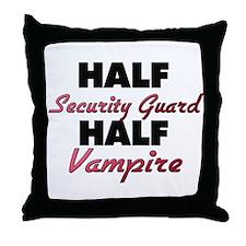 Half Security Guard Half Vampire Throw Pillow