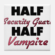 Half Security Guard Half Vampire Tile Coaster