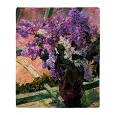 Lilacs in a Window, painting by Mary Throw Blanket