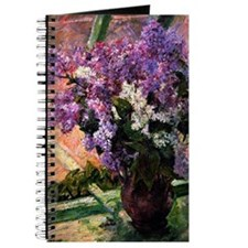 Lilacs in a Window, painting by Mary Cassa Journal