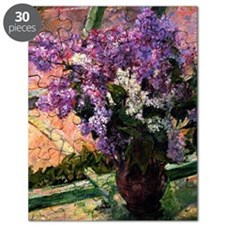 Lilacs in a Window, painting by Mary Cassat Puzzle