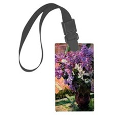Lilacs in a Window, painting by  Luggage Tag