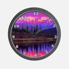Wonder Lake at Sunset Wall Clock