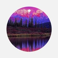 Wonder Lake at Sunset Ornament (Round)