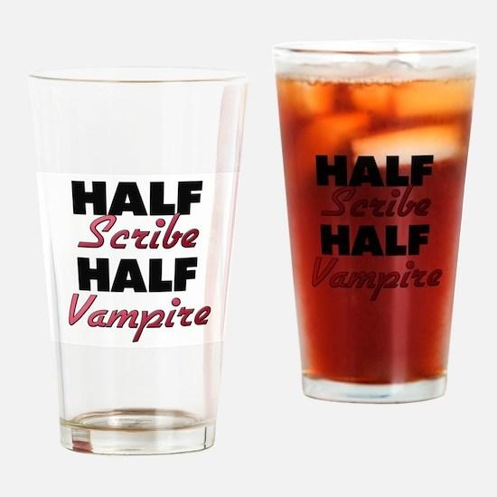 Half Scribe Half Vampire Drinking Glass