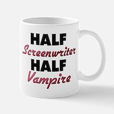 Half Screenwriter Half Vampire Mugs
