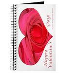 Red Rose in Heart Valentine Journal
