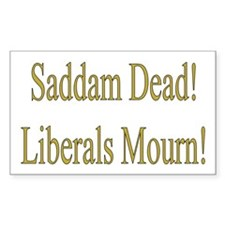 Liberals Mourn Rectangle Decal