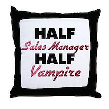 Half Sales Manager Half Vampire Throw Pillow