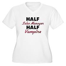Half Sales Manager Half Vampire Plus Size T-Shirt