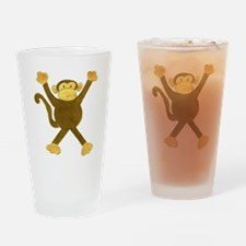 Tumbling Monkey Drinking Glass