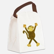 Tumbling Monkey Canvas Lunch Bag