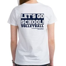 Let's Go School Volleyball Tee