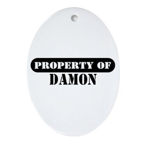 Property of Damon Oval Ornament