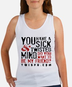 SICK TWISTED MIND - WHITE Tank Top