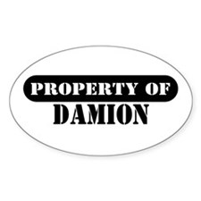 Property of Damion Oval Decal