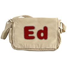 Ed Santa Fur Messenger Bag
