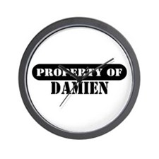 Property of Damien Wall Clock