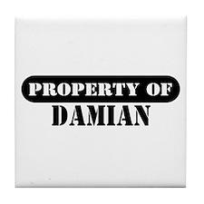 Property of Damian Tile Coaster