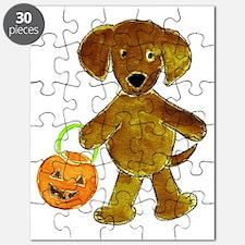 Halloween Chocolate Lab Pumpkin  Puzzle