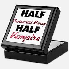 Half Restaurant Manager Half Vampire Keepsake Box