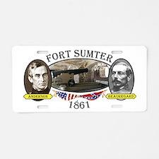 Fort Sumter Aluminum License Plate