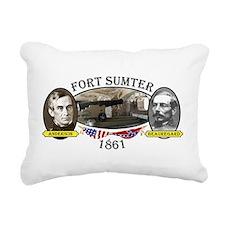 Fort Sumter Rectangular Canvas Pillow