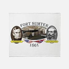Fort Sumter Throw Blanket