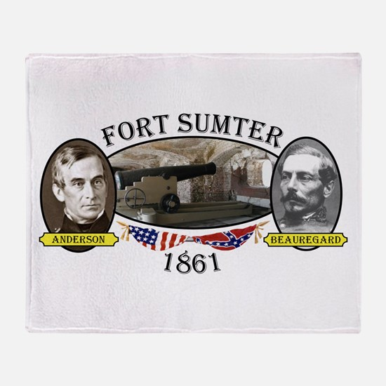 Fort Sumter Throw Blanket