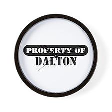 Property of Dalton Wall Clock