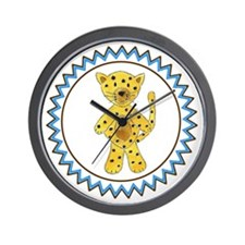 Cheetah Zig Zag Wall Clock