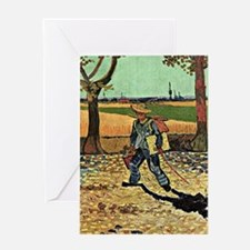 Van Gogh: Self-Portrait on the Road  Greeting Card