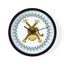 Tumbling Monkey Upside Down Zig Zag Wall Clock